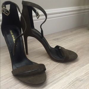 Olive Green Single Sole High Heels